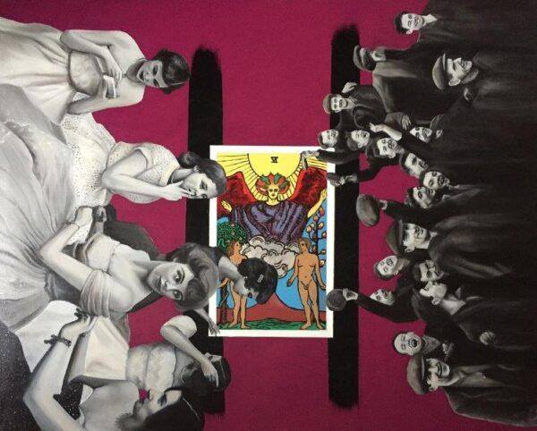 Are you dancin Are you askin, Ilona Dynowski, Oil on Canvas Unframed 80 x 100 cm