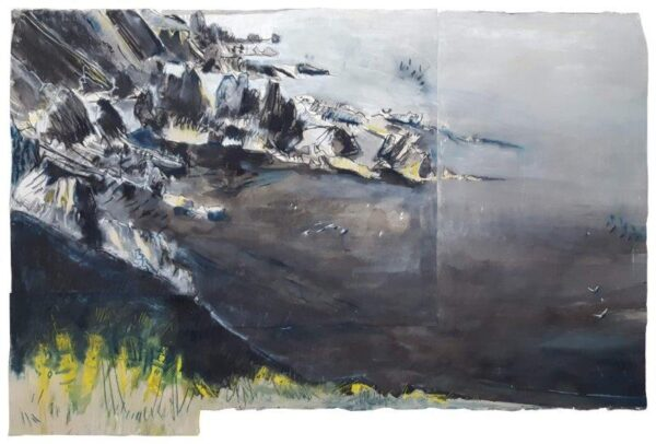 Fast Castle, Space and Light, Kittie Jones, Ink, pastel, pencil and charcoal on paper Unframed 76cm x 112cm