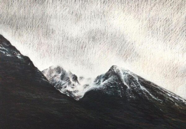 Late Snow, Gregory Moore, Derwent drawing pencils with acrylic  Framed 56x70x2