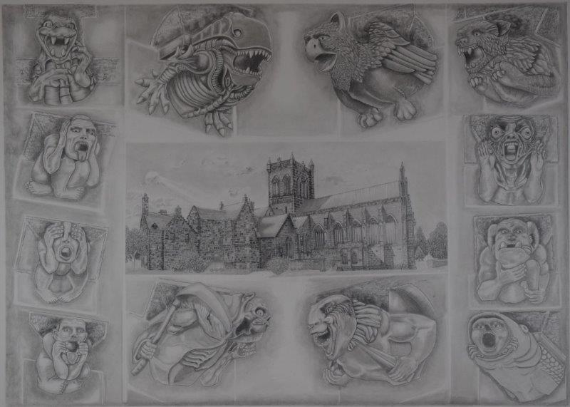Paisley Abbey and Gargoyles
