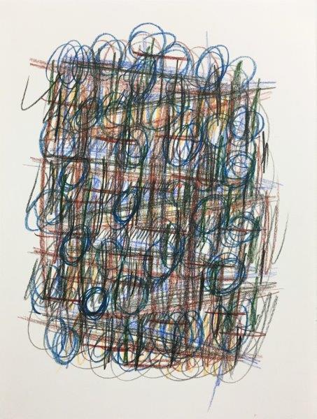 Inter Facade, Ally Wallace, Coloured pencil on paper Framed 48cm x 38cm x 4cm