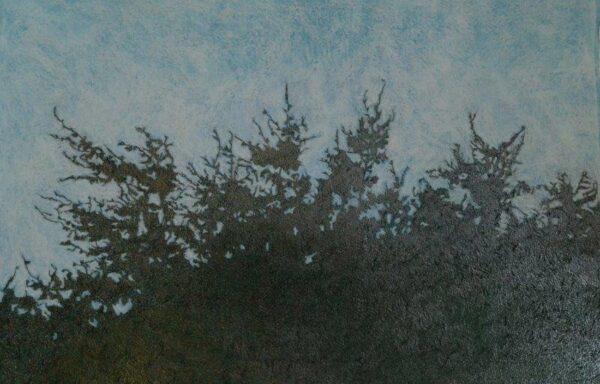 High Tops to the Sky, Caroline  Watson, Graphite, Soft Pastel on Paper Framed 72cm x 108cm x 2cm